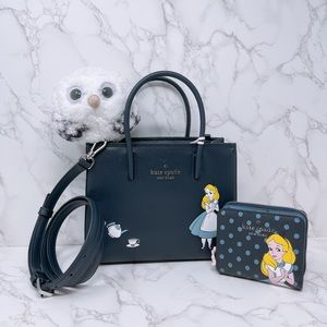 Kate Spade Disney x Alice Shopper and Wallet